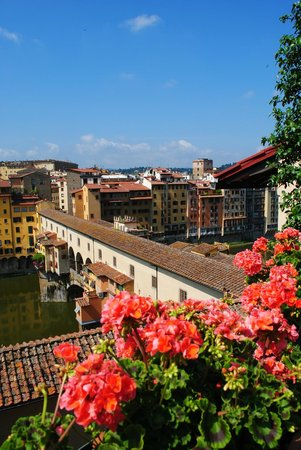 Hotel Hermitage : View of Ponte Vecchio from roof
