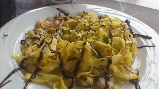Restaurant Auzoa: Tallarines con Gambas