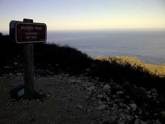 Valencia Peak Trail: signature book for hikers right as you get to the peak