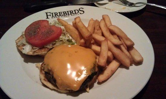 Firebirds Wood Fired Grill: Cheeseburger & steak fries