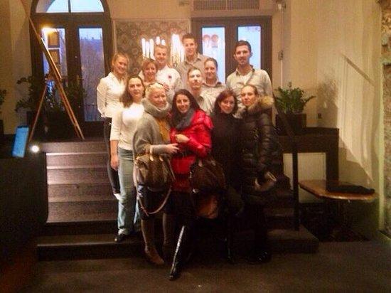 V Zatisi : with the fabulous staff from Zatiši