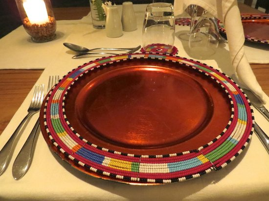 The Oyster Bay Hotel: Handmade beaded plate rings