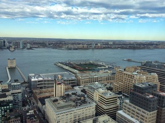 Trump SoHo New York: View from the 45th floor to the west.