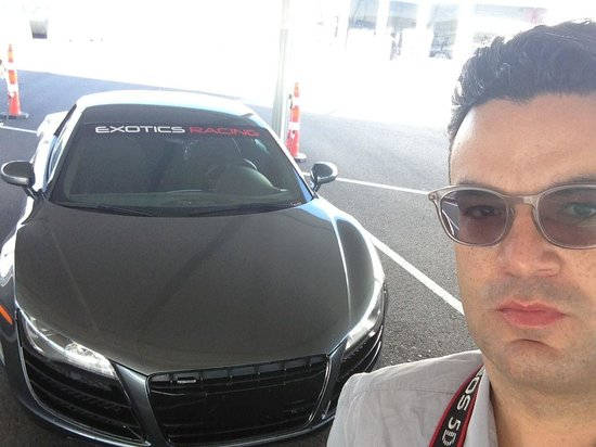 Exotics Racing: Audi R8 and me- ready to rip up the track! #JamesDeanForAday