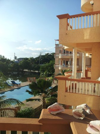 Ambergris Lake Villas : view from balcony