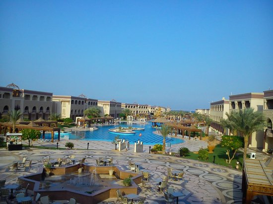 SENTIDO Mamlouk Palace Resort : صورة للفندق بالكامل من تراس اللوبي