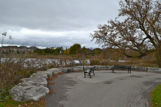 Mackenzie Glen District Park : Have a seat and enjoy the lake view