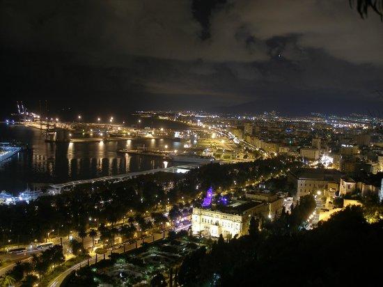 Parador de Malaga Gibralfaro: Malaga by night