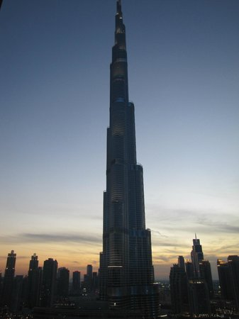 Address Dubai Mall : Burj Khalifa view from our balcony