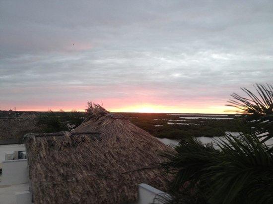 Las Terrazas Resort: Sunset over the marsh behind the resort.
