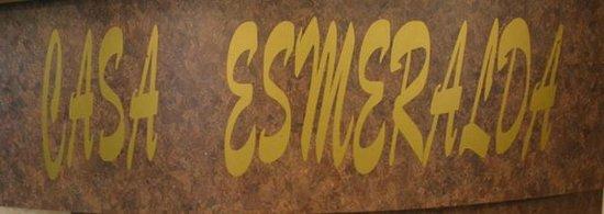 Cabinas Casa Esmeralda: Sign