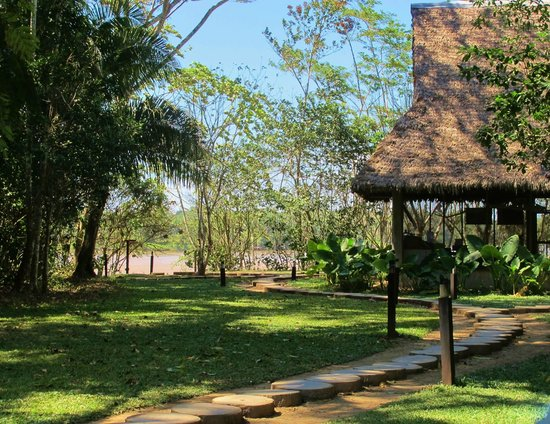 Inkaterra Reserva Amazonica : view of Ecolodge learning center and Madre de Dios river