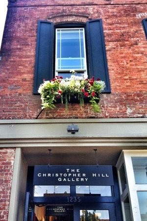 The Christopher Hill Gallery...come on up the steps!