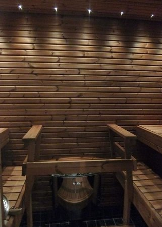Santa's Hotel Tunturi : Private sauna in room