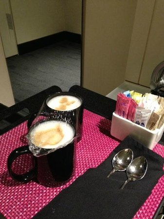 W Chicago - City Center: This is what you call in-room cappuccino? For $16!!! You're better than that W...Very dissapoint