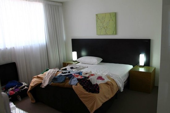 One The Esplanade: Bedroom 1 with attached toilet