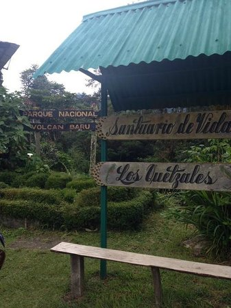 Sendero Los Quetzales (The Quetzales Trail) : Entrance on the Boquete side