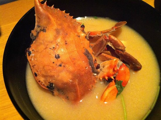 EN Japanese Brasserie : The Crab Miso Soup, which my friends didn't like