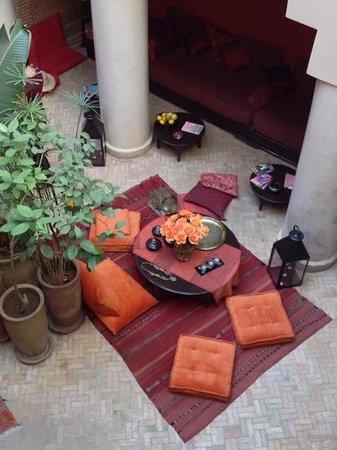 Riad Boussa : courtyard