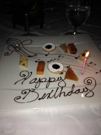 The Restaurant @ Las Ventanas al Paraiso: Happy Birthday meee