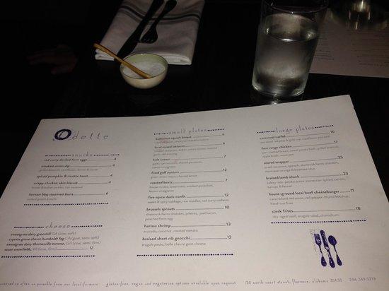 Menu picture of odette florence tripadvisor for Odette s restaurant month