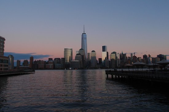 Downtown Jersey City, New Jersey - Waterfront 9/11 Memorial - #8: dusk