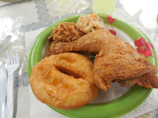 Vie's Snack Shack : Chicken platter $12