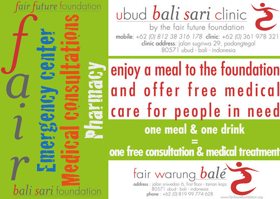 Fair Warung Bale - Fair Future Foundation: One meal, one drink = One free medical consultation for people in need