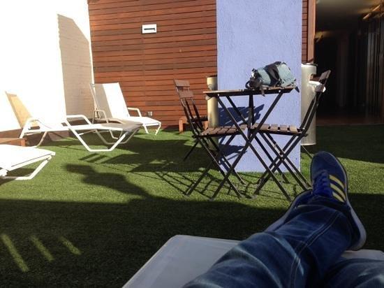 Hotel Ciutat Vella: terraza