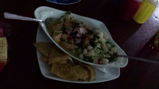Fiesta del Mariscos: Ceviche mixto. Best part of our meal.