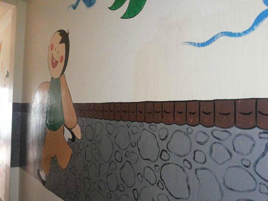 Hotel Da Som Inn: wall painting