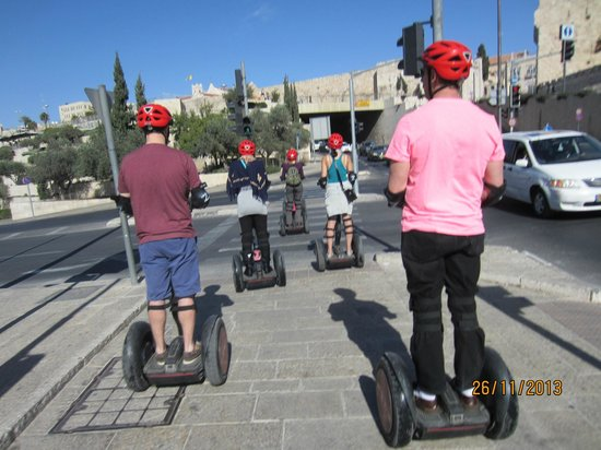 Zu-Zu Segway Tours: On our way to Mamila next to the Old City of Jerusalem