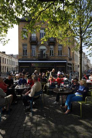 Photo of Belgian Restaurant Aan het strand van Oostende at Dageraadplaats 19, Antwerp 2018, Belgium