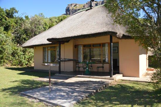 Thendele Hutted camp: Hütte von außen (Lower Camp)