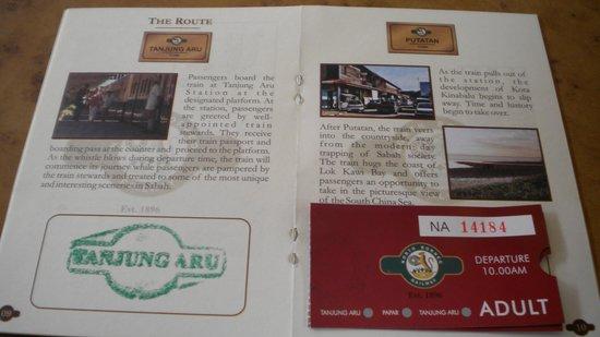 Sutera Harbour Resort (The Pacific Sutera & The Magellan Sutera): 北ボルネオ鉄道乗車のパスポート