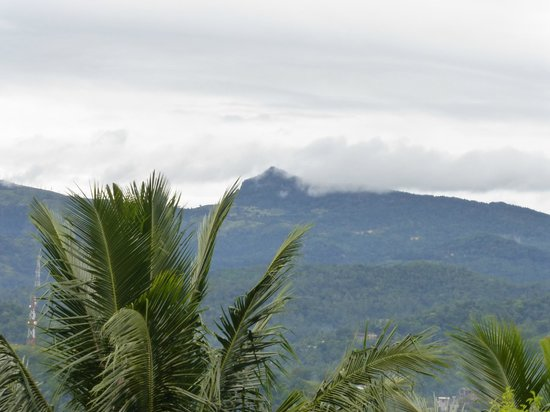 Villa Sandalwood: View of the mountains in the morning from the rooftop
