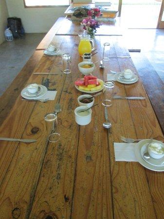 Inkosana Lodge : Frühstückstisch