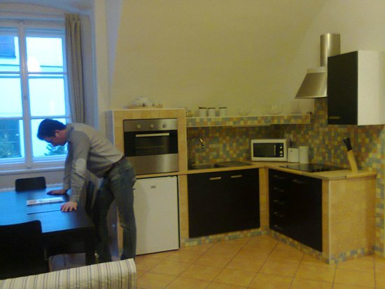 Happy Prague Apartments : Kitchen in living-room