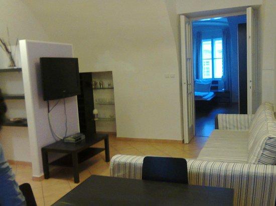 Happy Prague Apartments: Living-room