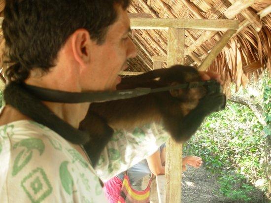 Kurupira Floating Cabin Amazonas : Observan la Victoria Regia