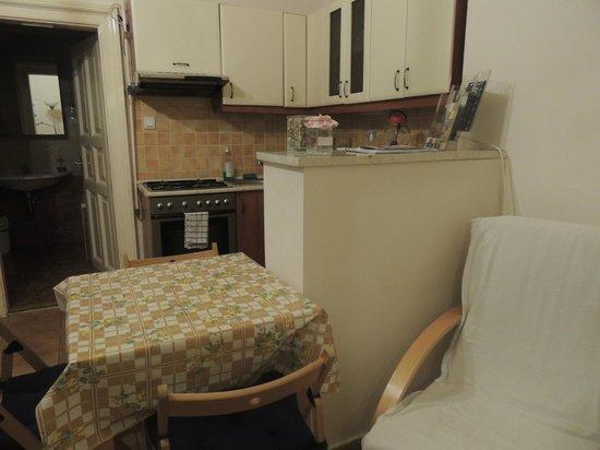 Friends Hostel Budapest: Martimoniale Superior - Cucina e sala