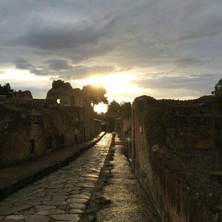 Ercolano, Italy: Straße in Herculaneum