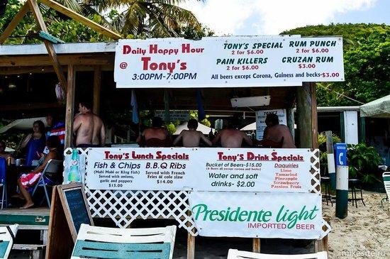 Cane Garden Bay: Food price