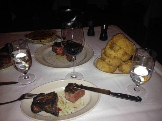 Pappas Bros. Steakhouse: Onion rings, Porterhouse 40oz.