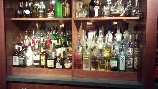 Meadowmere Resort: In the pub, liquor selection