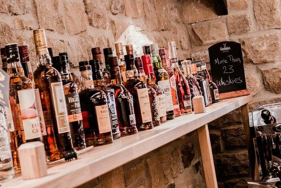The Angel Inn: Restaurant bar - Spirits selection