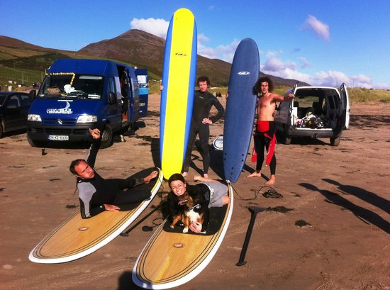 Nevsail Watersports: getting ready for a surf on a lovely sunny summers day