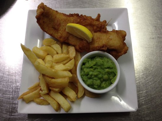 Treborth Garden Centre: Fresh cod and chips