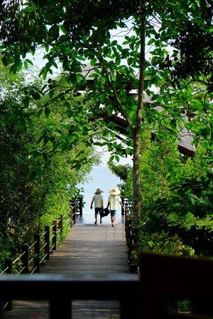 Bunga Raya Island Resort & Spa: Restaurant entrance