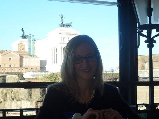 Hotel Forum Roma : colazione con vista